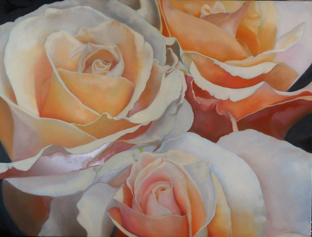 Judy Phipps, Everything's Peachy, oil