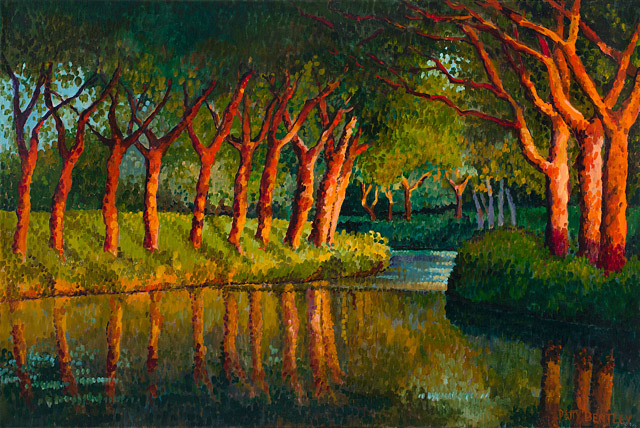 Patty Bentley, Canal Du Midi, oil