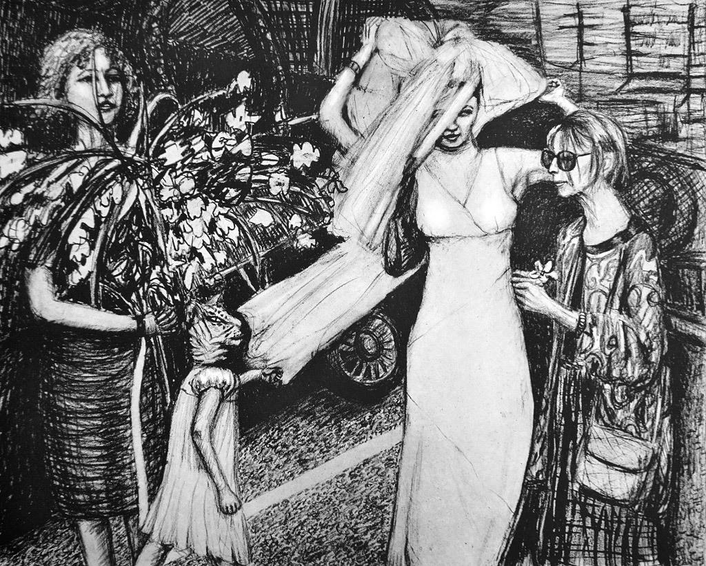 Paula Bullwinkel, Quintana, etching