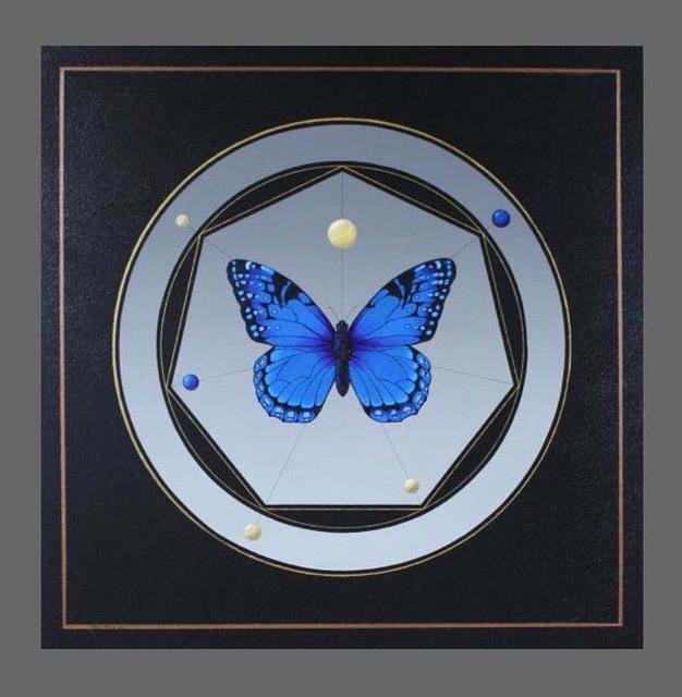 Ralph Davis, Heptalepidoptera III, acrylic