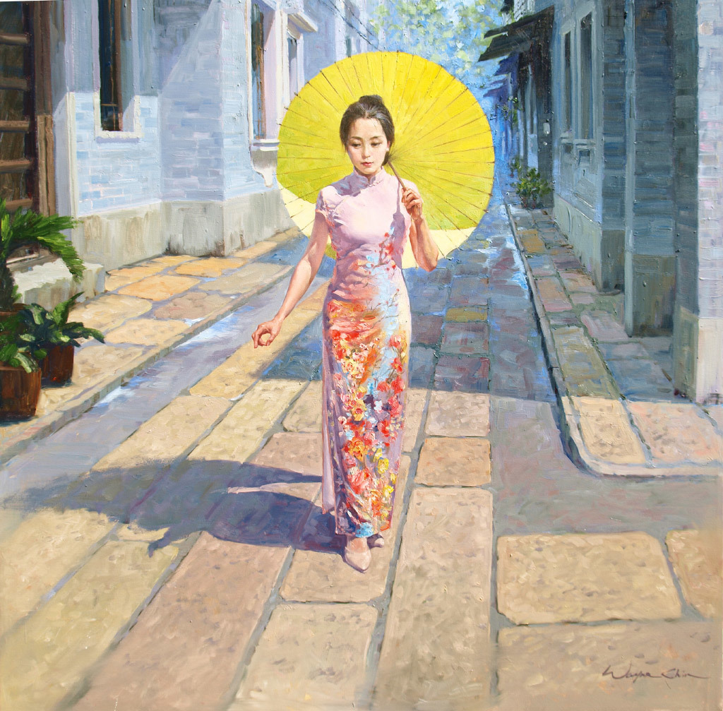 Wayne Hung Chin, Miss Xiguan B, oil