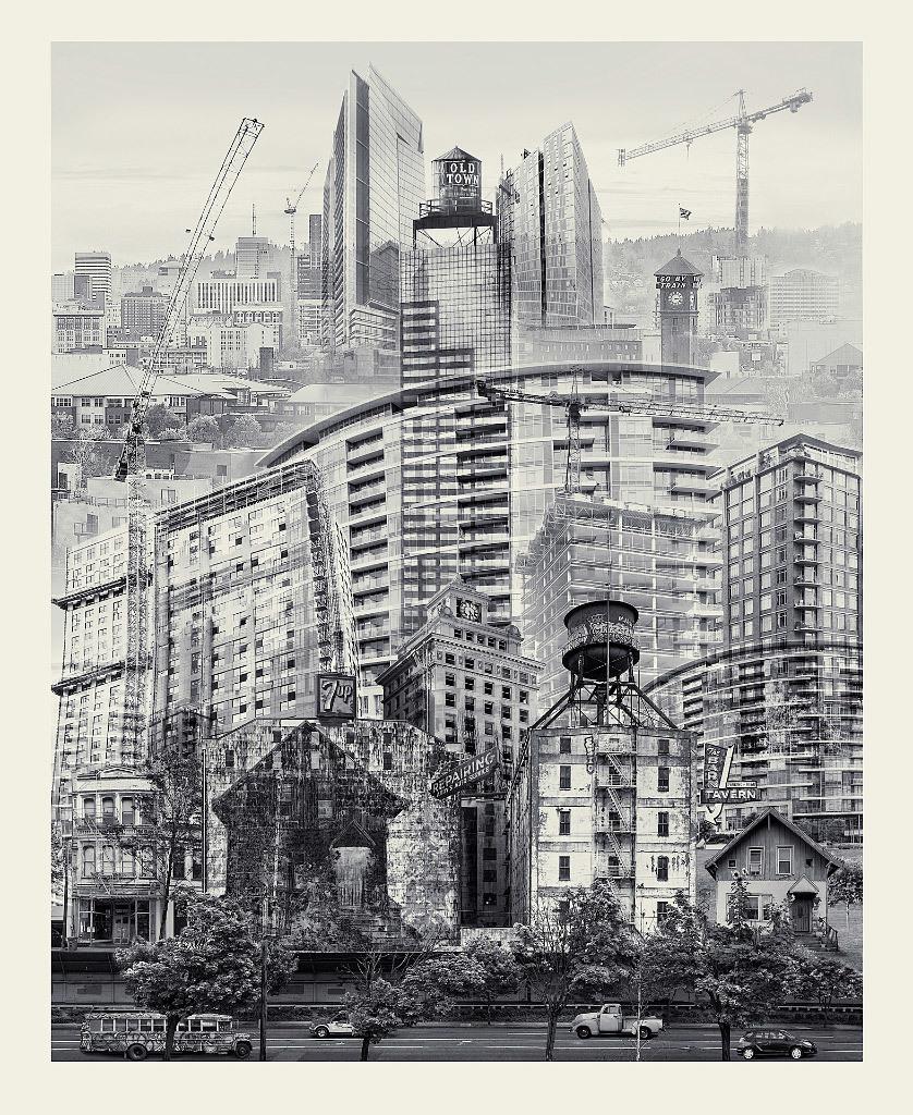 Beth Kerschen, Portland in Flux, archival inkjet print