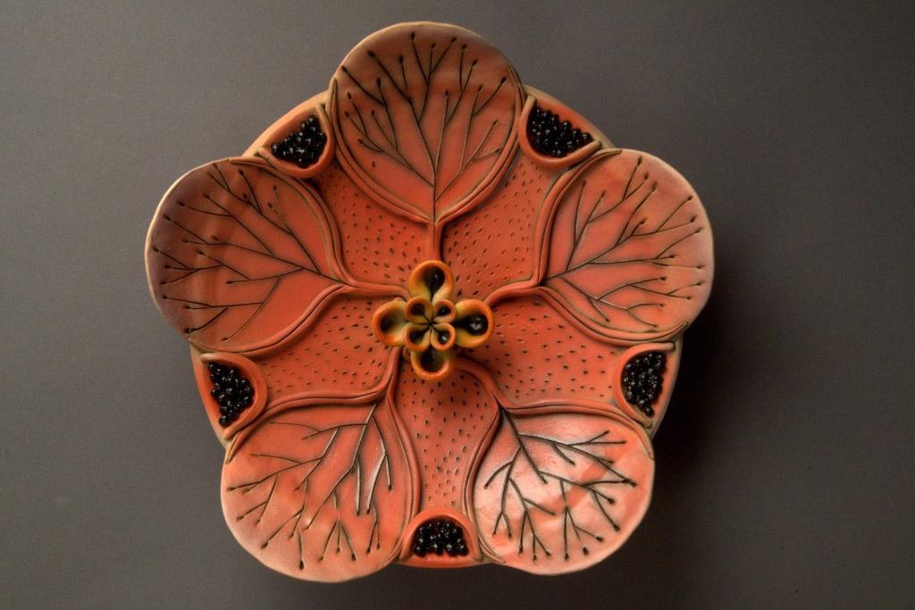 Hsin-Yi Huang, Pink Flower, porcelain