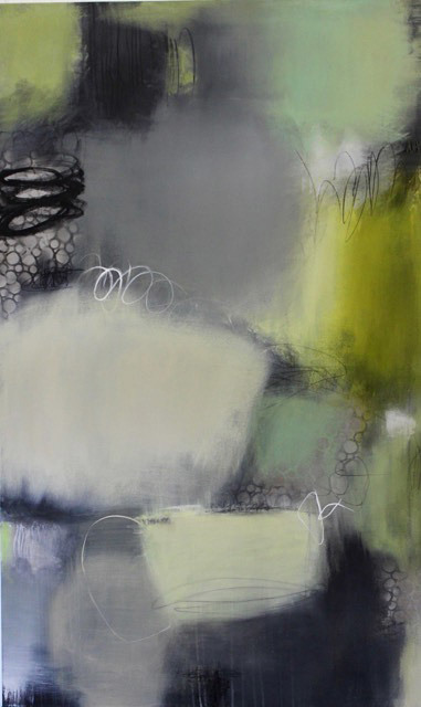 Candace Primack, Cloudy with a Chance of Rain I, mixed media