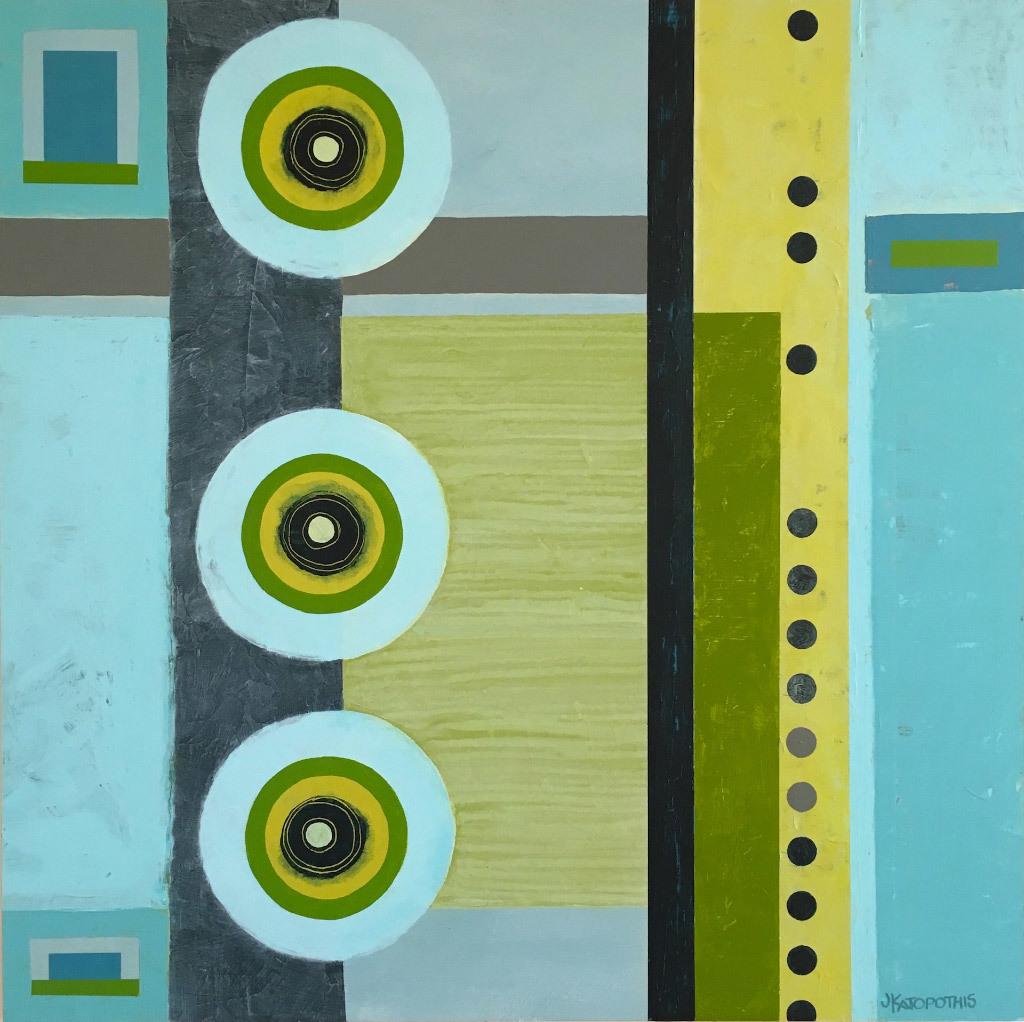Jody Katopothis, Here Comes the Rain Again, acrylic