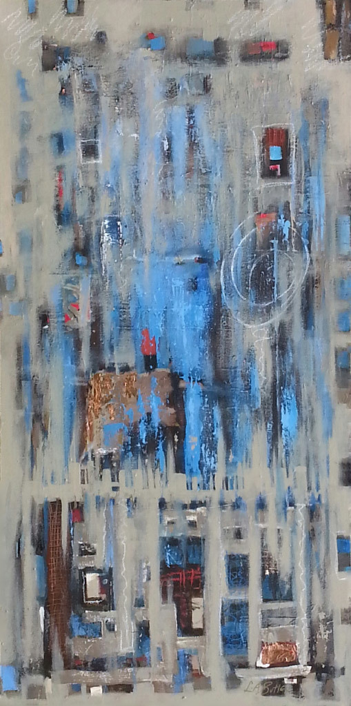 LeslieAnn Butler, The Occasional Rainy Wednesday, mixed media