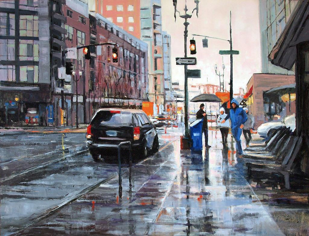 Paul Zegers, Rain on Lovejoy, oil