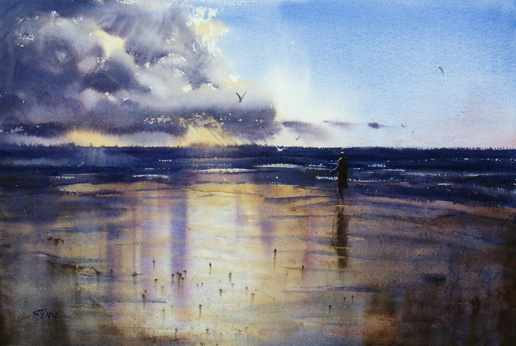 Sandra Pearce, Chance of Rain, water color