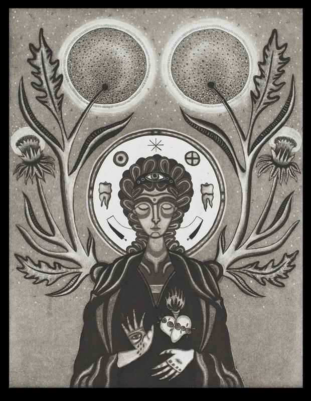 Tara Murino-Brault, Archangel, Intaglio