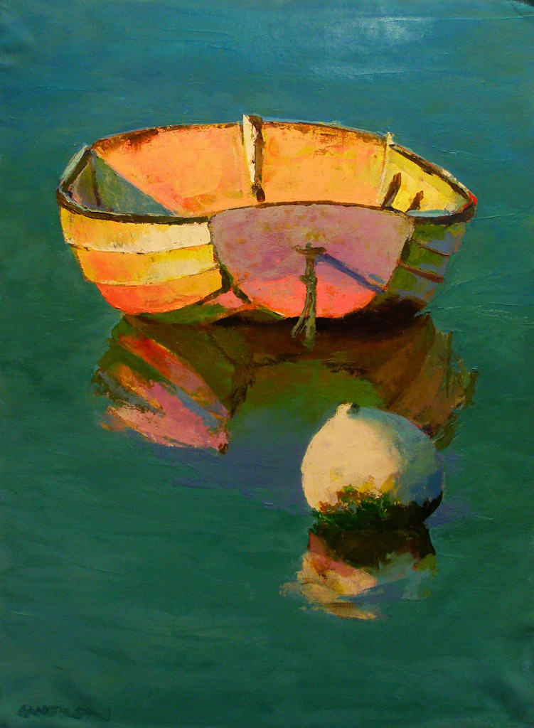 Brian Cameron, Teal Morning, oil on canvas