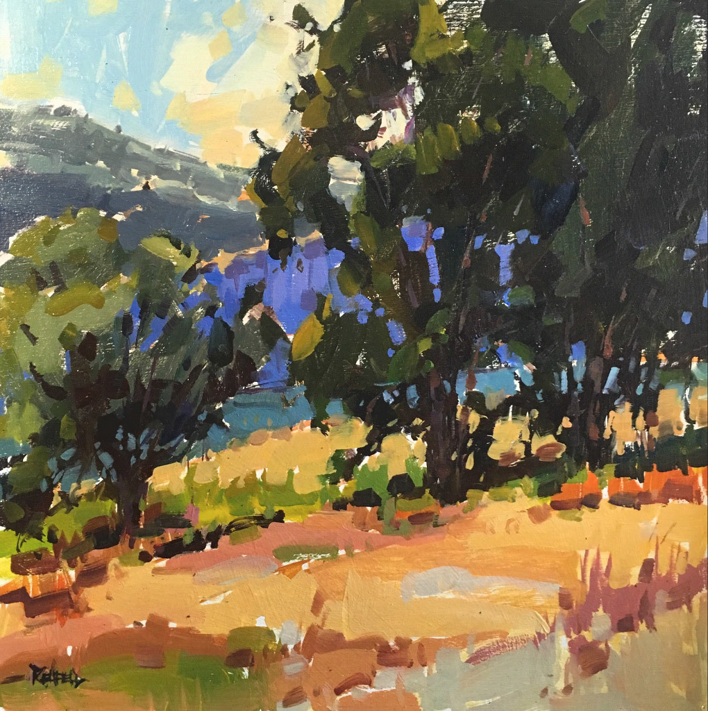 Cathleen Rehfeld, Remembering The Gorge, oil