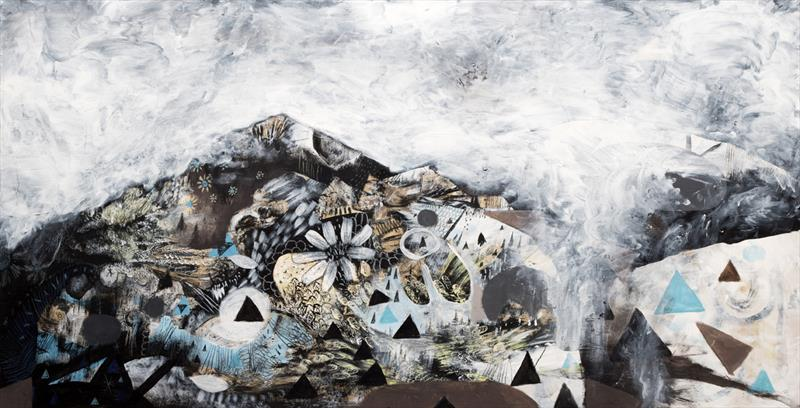 Jesse Reno, Clouds at the Mountain Top, mixed media