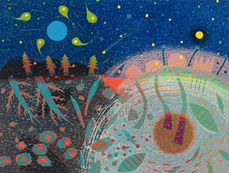 Noriko Sugita, Eclipse, woodcut