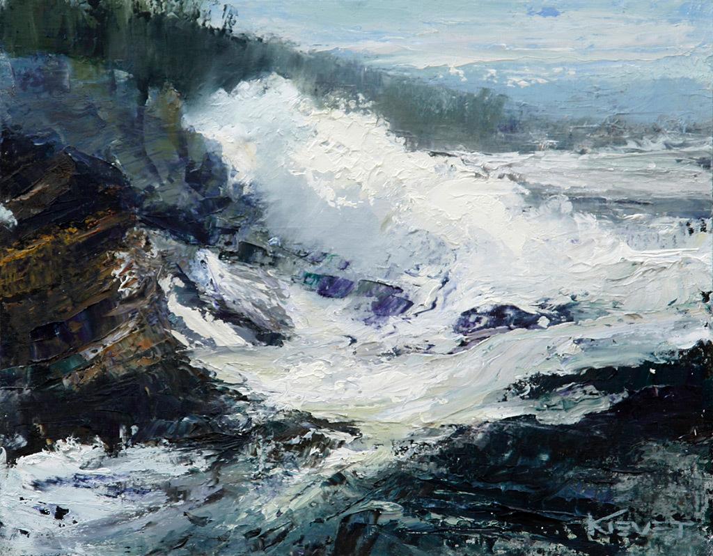 Fran Kievet, Ocean Textures, oil