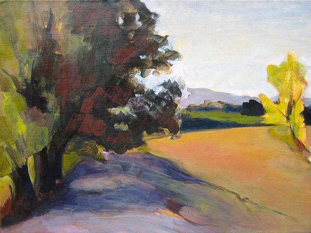 Janet Bland, Dairy Creek Road, acrylic