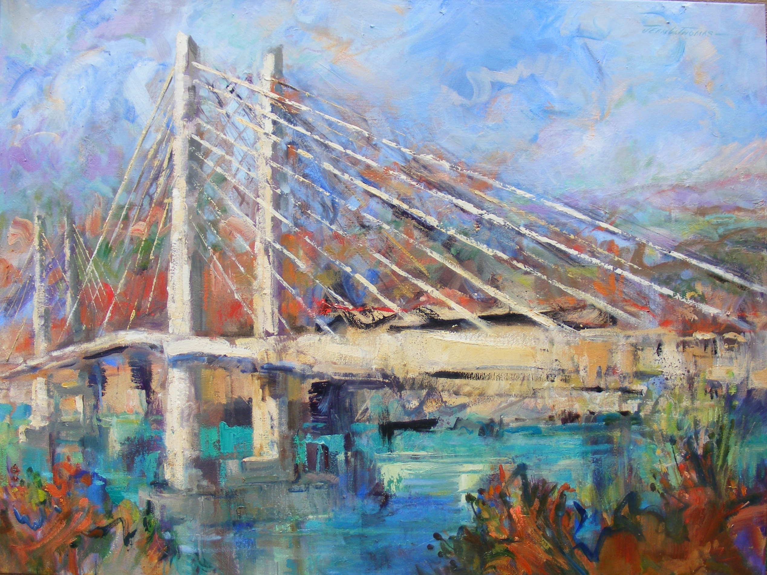 Jean Thomas, Tillikum Crossing, oil