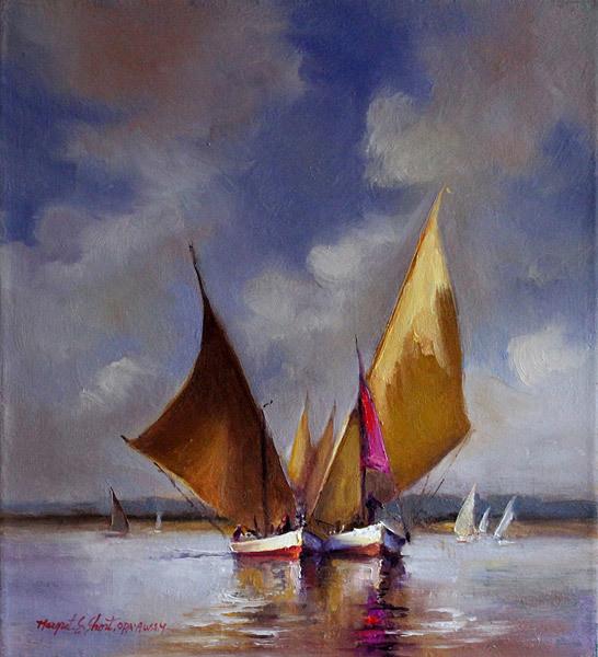 Margret Short, Against the Wind, oil
