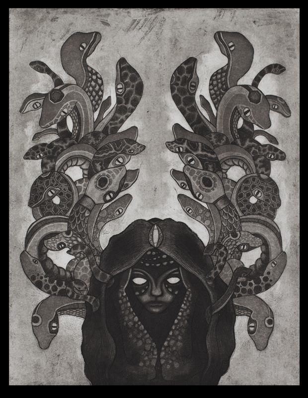 Tara Murino-Brault, Medusa, Intaglio