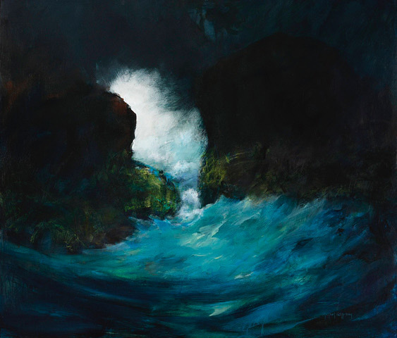 Michael Schlicting, Dark Water, acrylic
