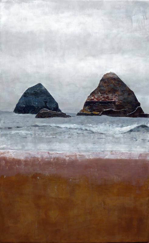 Andrea Benson, Obscure Coast #3, encaustic