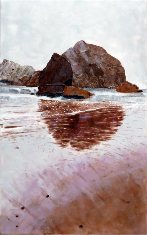 Andrea Benson, Obscure Coast #5, encaustic