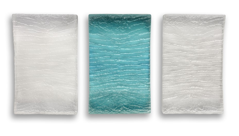 Lawrence Morrell, Ocean Arbor Triptych I, glass