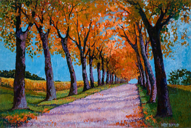 Patty Bentley, A Road in Bordeaux, oil