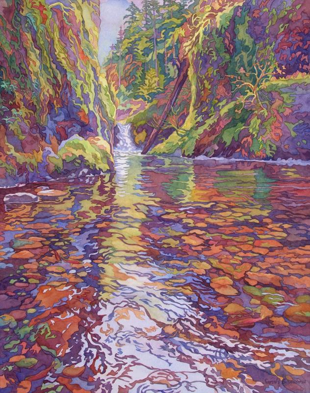 Sarah Bouwsma, River Fish, watercolor