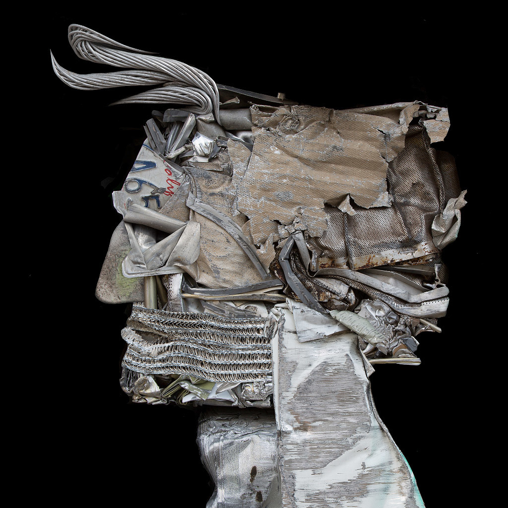 Scott Hoyle, Steel My Portrait #1, mixed media