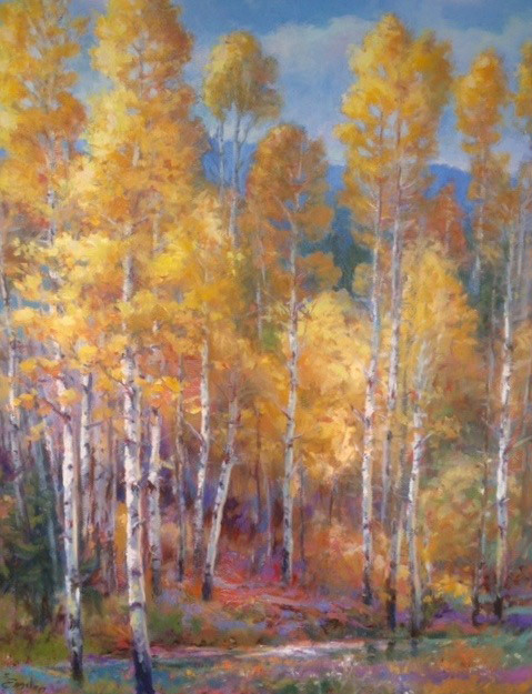 Sharon Engel, Autumn in the Woods, oil