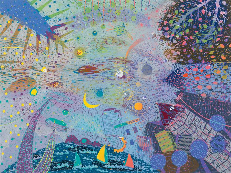 Noriko Sugita, Sky, woodcut