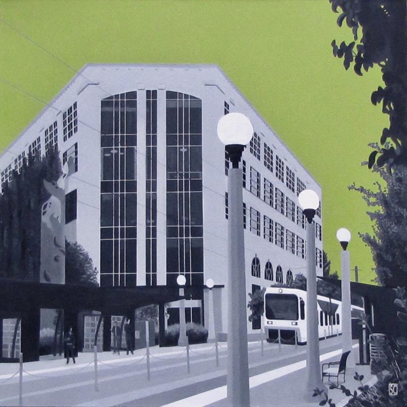 The Beaverton Building, oil