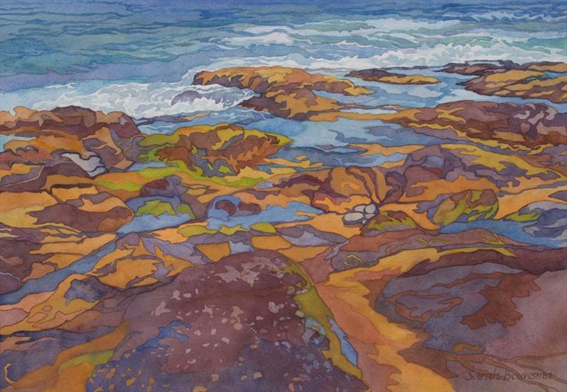 Sarah Bouwsma, Tidepools II, watercolor