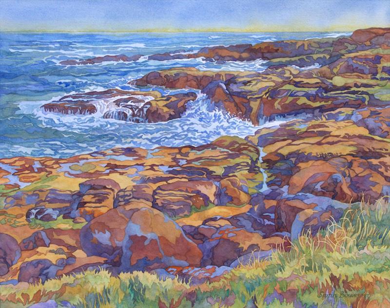 Sarah Bouwsma, Tidepools, watercolor