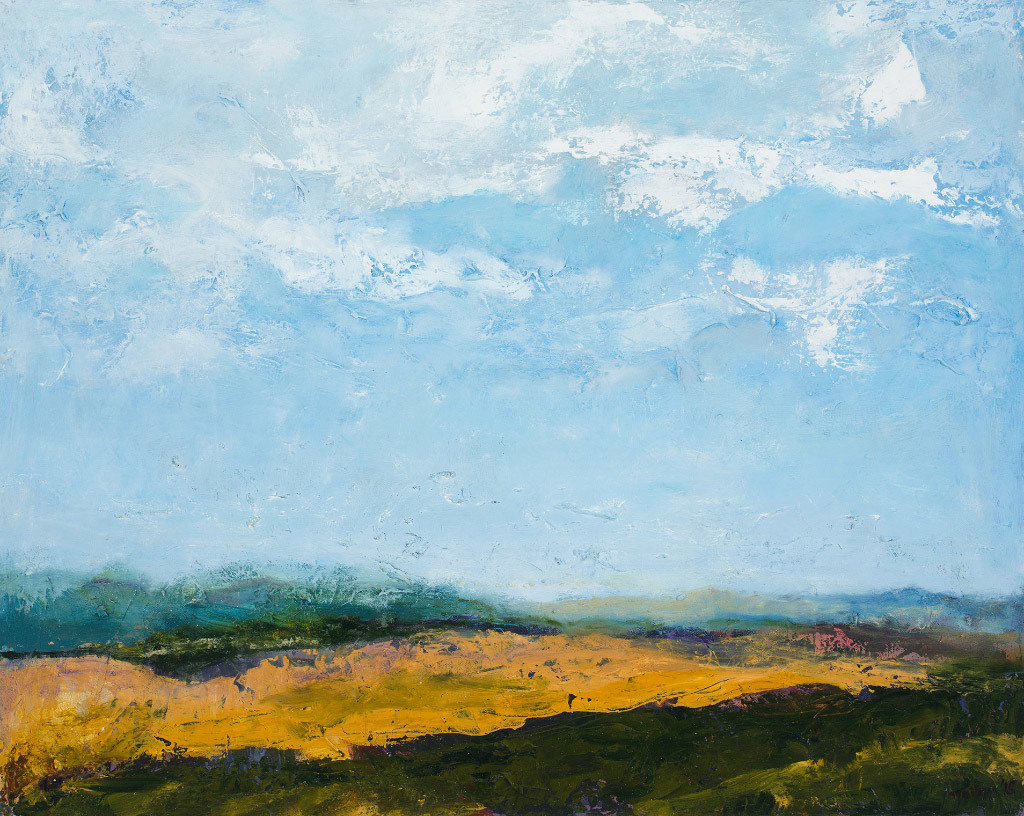 Joyce Tolley, Distant Mountains, oil