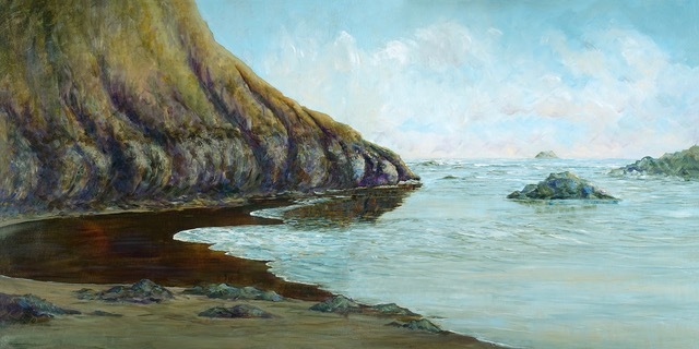 Judith Babbitt, Jewels of Oregon Coast II Arcadia Beach, oil