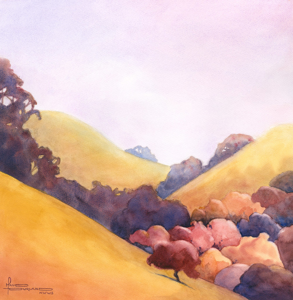 Maud Durland, In the Valley, water color