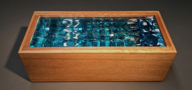 Robert Elan, Wading Pool III, glass and wood