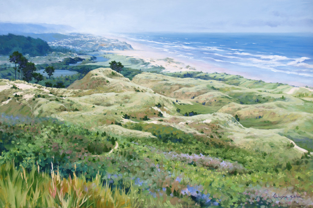 Wayne Hung Chin, Pacific Coastline, oil