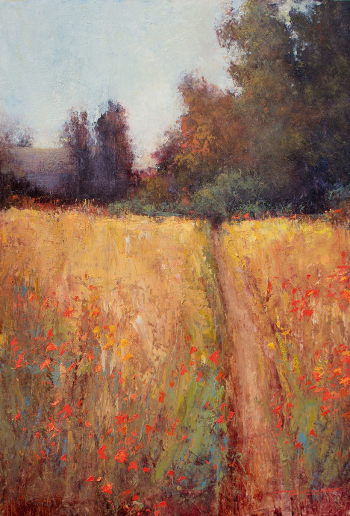 Don Bishop, A Golden Field, oil on panel