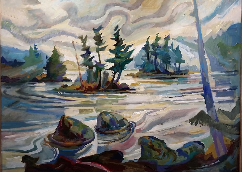 Erik Sandgren, Island Intervals, acrylic on panel