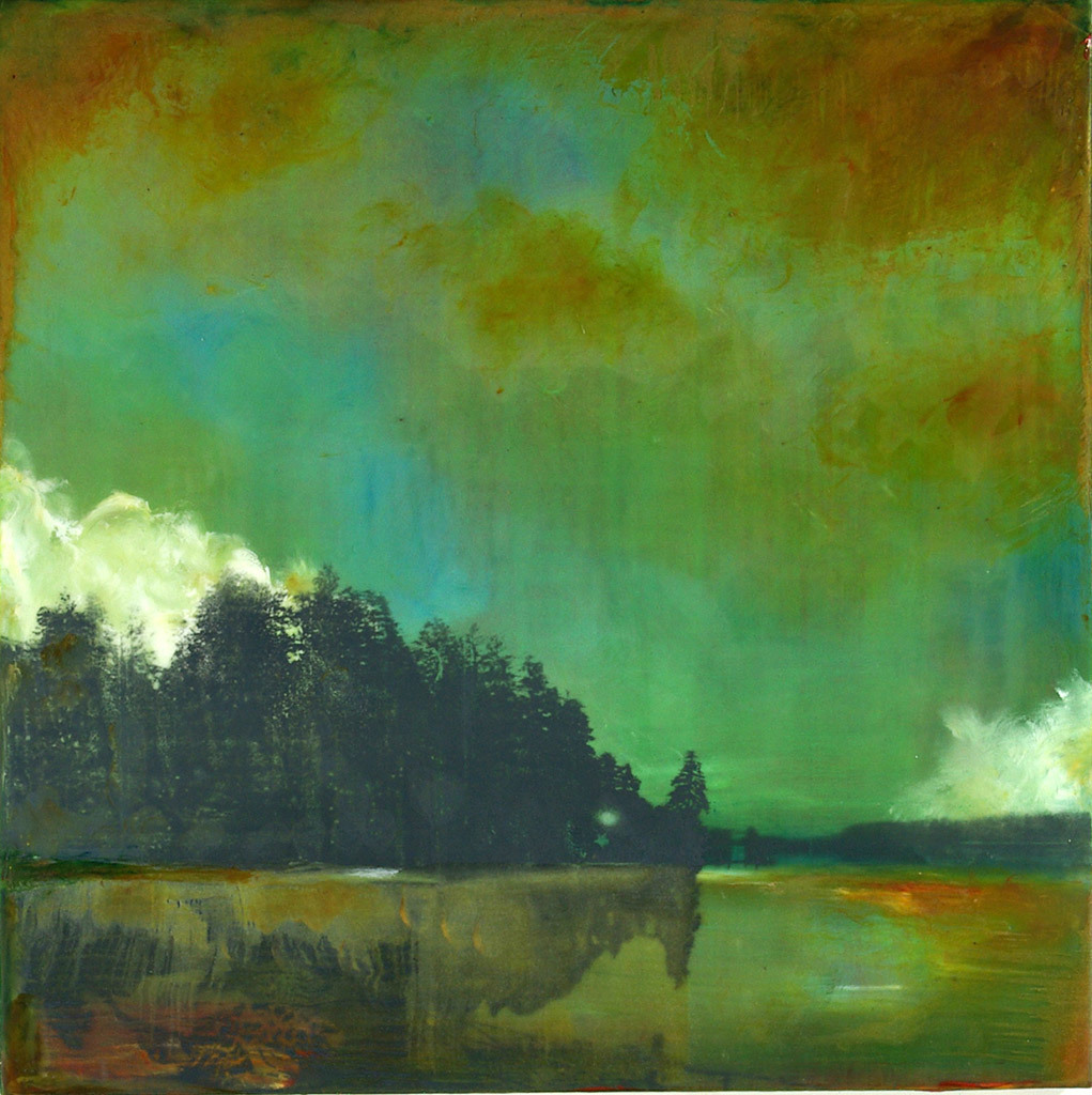 Molly Cliff Hilts, Ten Mile Study #2, encaustic