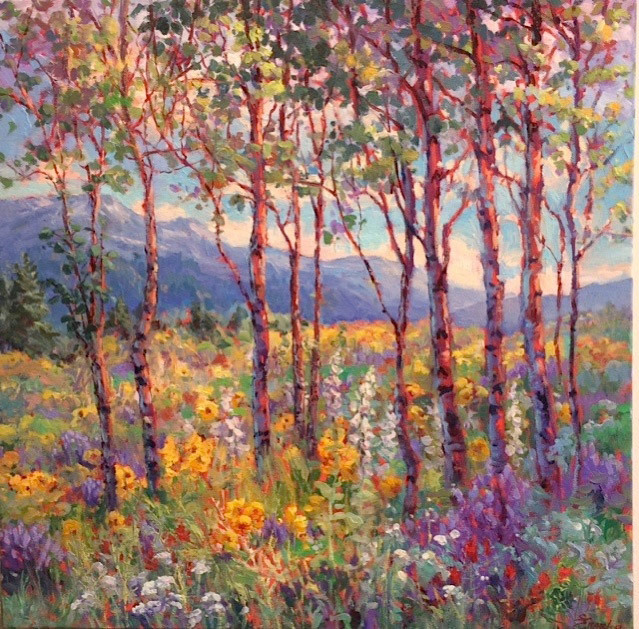 Sharon Engel, Spring in the High Country, oil on canvas